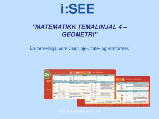 """MATEMATIKK TEMALINJAL 4 – GEOMETRI"""