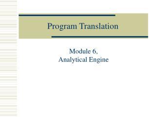 Program Translation