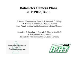 Bolometer Camera Plans at MPIfR, Bonn