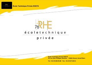 �cole Technique Priv�e RHE76