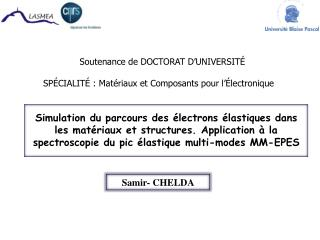 Soutenance de DOCTORAT D UNIVERSIT