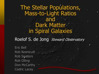 The Stellar Populations, Mass-to-Light Ratios  and Dark Matter in Spiral Galaxies