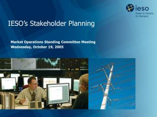 IESO's Stakeholder Planning