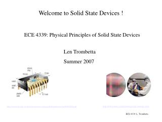 Welcome to Solid State Devices !