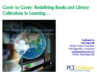 Cover to Cover: Redefining Books and Library Collections in Learning…