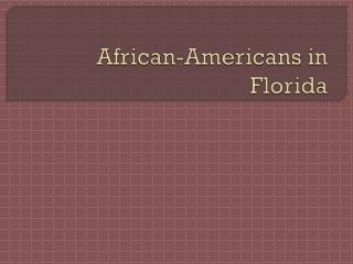 African-Americans in Florida
