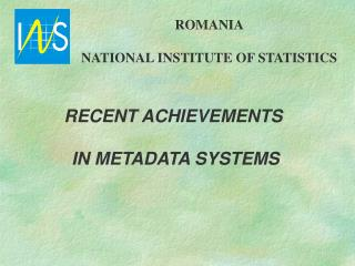 ROMANIA NATIONAL INSTITUTE OF STATISTICS