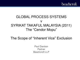 Paul Davison Partner Beachcroft LLP
