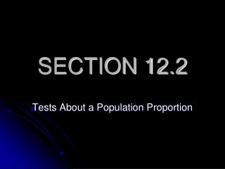 SECTION 12.2