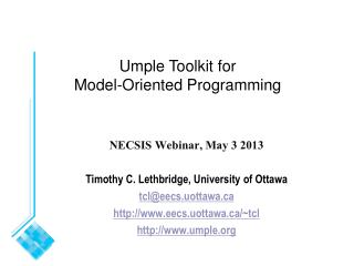 Umple Toolkit for Model-Oriented Programming