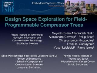 Design Space Exploration for Field-Programmable Compressor Trees