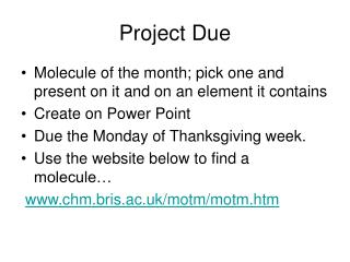 Project Due