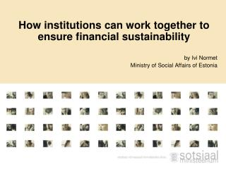 H ow institutions can work together to ensure financial sustainability