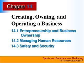 Creating, Owning, and Operating a Business