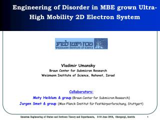 Engineering of Disorder in MBE grown Ultra-High Mobility 2D Electron System