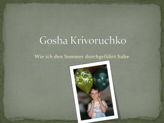 Gosha Krivoruchko