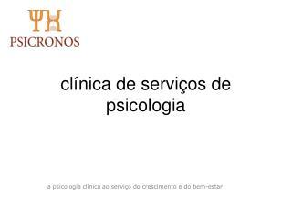 cl�nica de servi�os de psicologia
