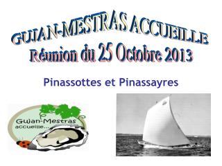 GUJAN-MESTRAS ACCUEILLE  Réunion du 25 Octobre 2013