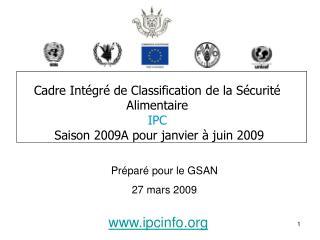 Cadre Intégré de Classification de la Sécurité Alimentaire  IPC