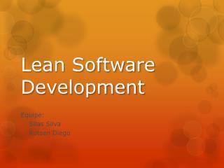 Lean  Software  D evelopment