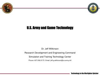 U.S. Army and Game Technology