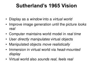 Sutherland's 1965 Vision