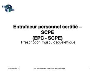 Prescription  musculosquelettique