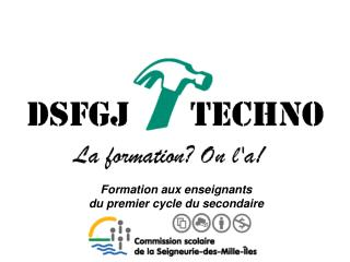 Formation aux enseignants  du premier cycle du secondaire