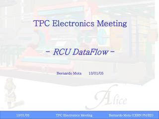 TPC Electronics Meeting -  RCU DataFlow  - Bernardo Mota13/01/05