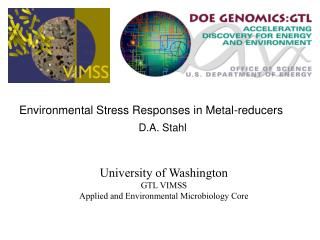 University of Washington GTL VIMSS Applied and Environmental Microbiology Core