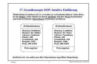 17. Grundkonzepte OOP: Intuitive Einführung