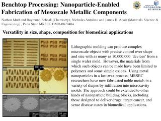 Benchtop Processing: Nanoparticle-Enabled Fabrication of Mesoscale Metallic Components