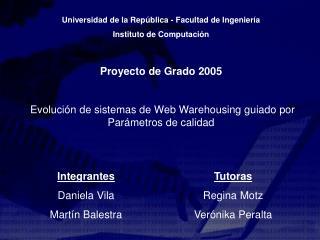 Universidad de la República  -  Facultad de Ingeniería Instituto de Computación