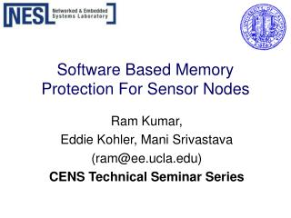 Software Based Memory Protection For Sensor Nodes