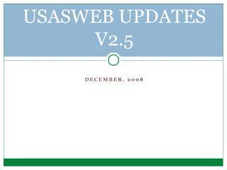 USASWEB UPDATES V2.5