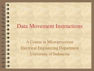 Data Movement Instructions