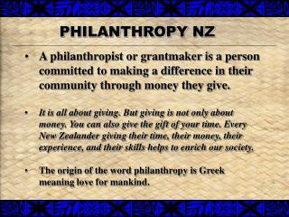 PHILANTHROPY NZ