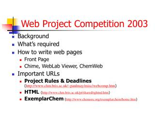 Web Project Competition 2003