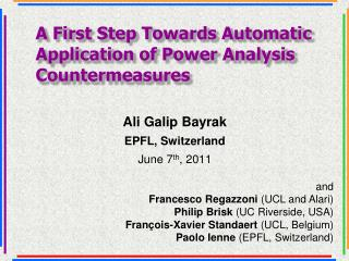 A First Step Towards Automatic Application of Power Analysis Countermeasures