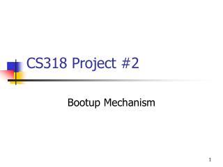CS318 Project #2