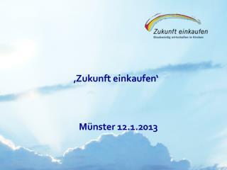 'Zukunft einkaufen'          Münster 12.1.2013