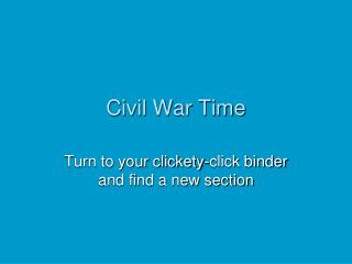 Civil War Time