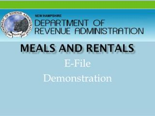 Meals and Rentals
