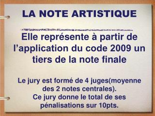 LA RELATION  MUSIQUE/MOUVEMENT Pénalisations
