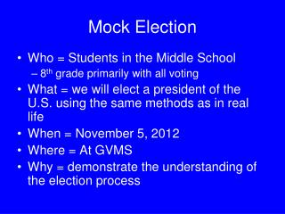 Mock Election