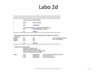 Labo 2d