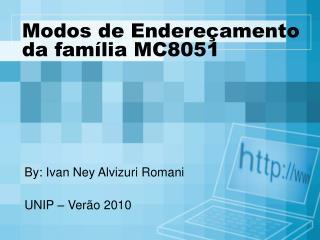 Modos de Endereçamento da família MC8051