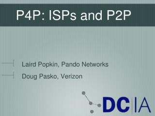 P4P: ISPs and P2P