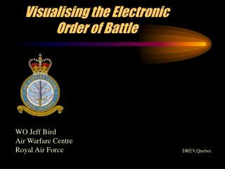 Visualising the Electronic Order of Battle