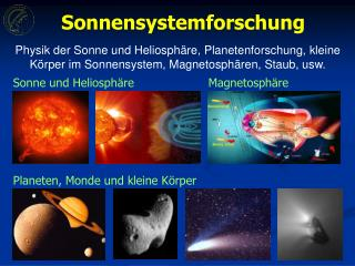 Planeten, Monde und kleine K � rper